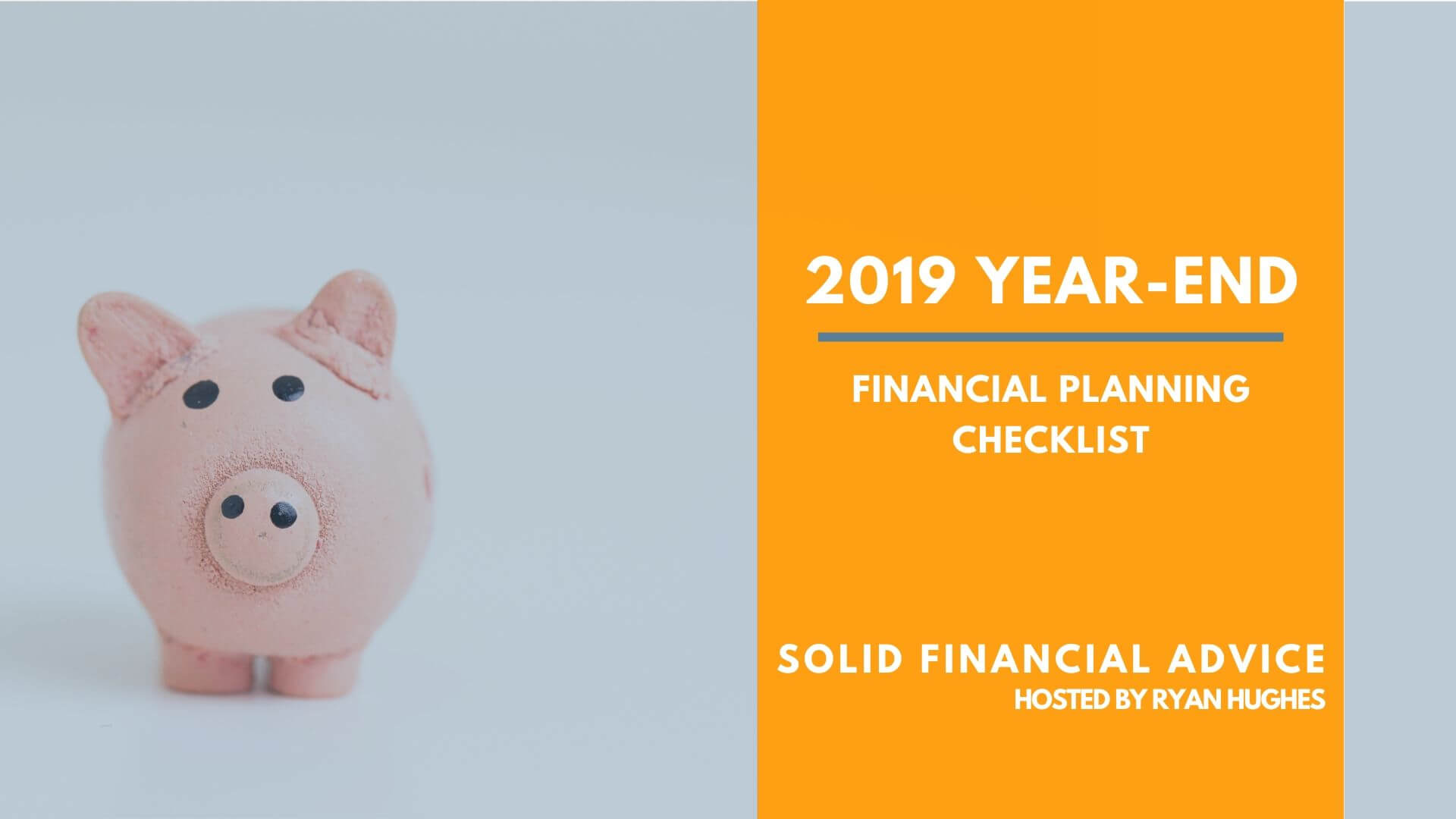 Year End Financial Planning Checklist