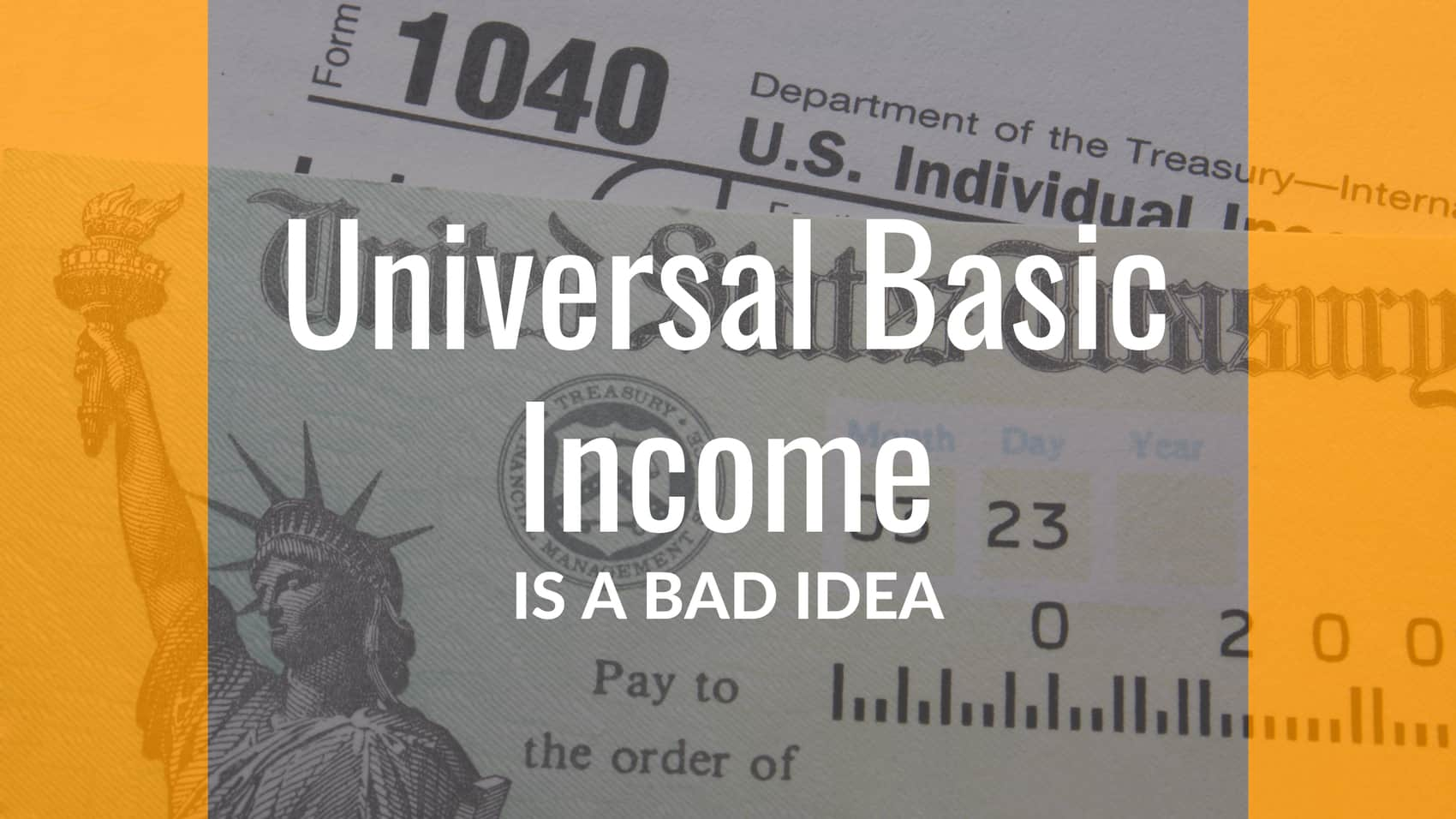 Universal Basic Income Bad Idea Poster