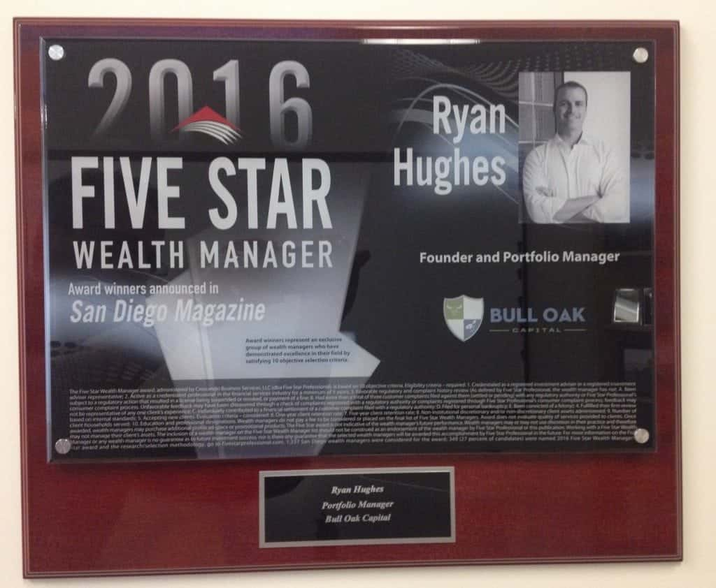 2016 Five Star Wealth Manager Award